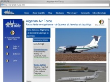 Screenshot from Webpage 'Algerian Air Force'