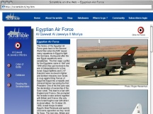 Screenshot from Webpage 'Scramble on the Web - Egyptian Air Force '