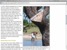 Screenshot from Webpage 'RONCO-Trained Sri Lankan Army Demining Teams Tsunami Clearance, by Stacy L. Smith (9.1)'