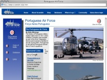 Screenshot from Webpage 'Portuguese Air Force'