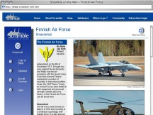 Screenshot from Webpage 'Scramble on the Web - Finnish Air Force'