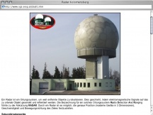 Screenshot from Webpage 'Radar Kolomansberg'