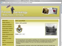 Screenshot from Webpage 'RAF Leconfield - Military Genealogy'