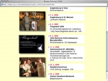 Screenshot from Webpage 'Events Februar 2006'