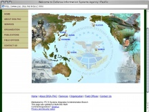 Screenshot from Webpage 'Welcome to Defense Information Systems Agency -Pacific'