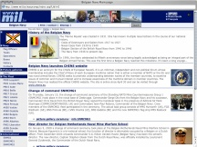 Screenshot from Webpage 'Belgian Navy Main page'