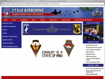 Screenshot from Webpage '173rd | Airborne Brigade Combat Team'