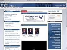 Screenshot from Webpage 'MacDill Air Force Base - Home'