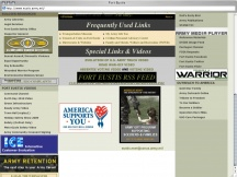 Screenshot from Webpage 'Fort Eustis'