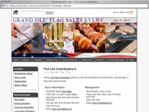 Screenshot from Webpage 'Commissaries.com - Fort Lee Commissary'