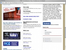 Screenshot from Webpage 'CNIC | Commander Navy Installations Command'