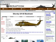 Screenshot from Webpage ' 	Sikorsky UH-60 Blackhawk - CombatAircraft.com '