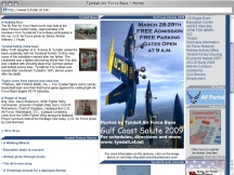 Screenshot from Webpage 'Tyndall Air Force Base - Home'
