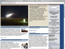 Screenshot from Webpage 'Whiteman Air Force Base - Home'