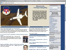 Screenshot from Webpage 'Vance Air Force Base - Home'