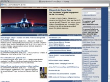 Screenshot from Webpage 'Ellsworth Air Force Base - Home'